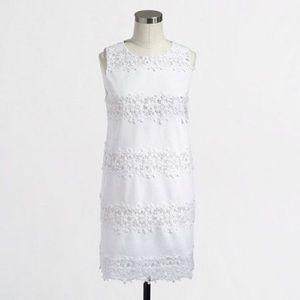 J Crew white lace summer dress